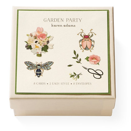 Garden Party Gift Enclosure Boxed Notes Set