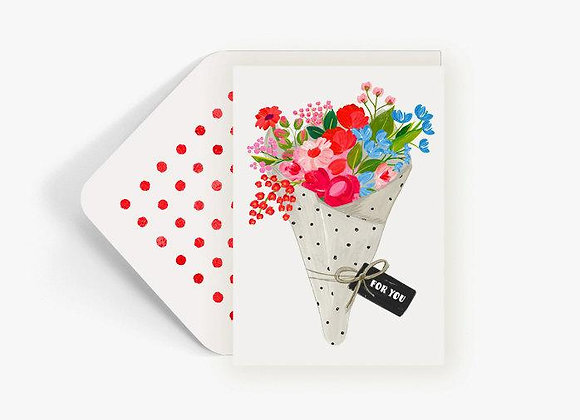 For You Fresh Bouquet Card