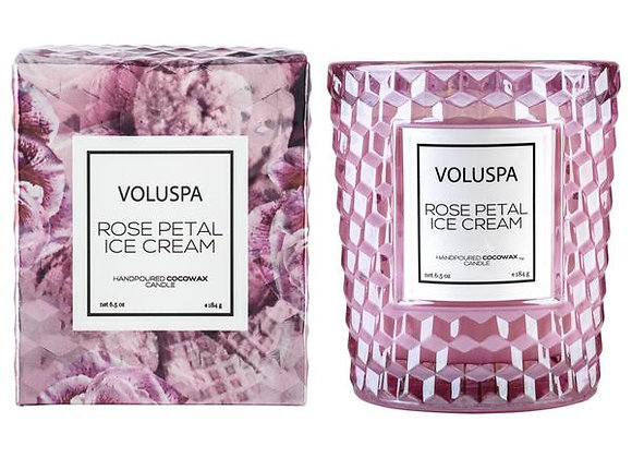 Rose Petal Ice Cream Classic Boxed Candle