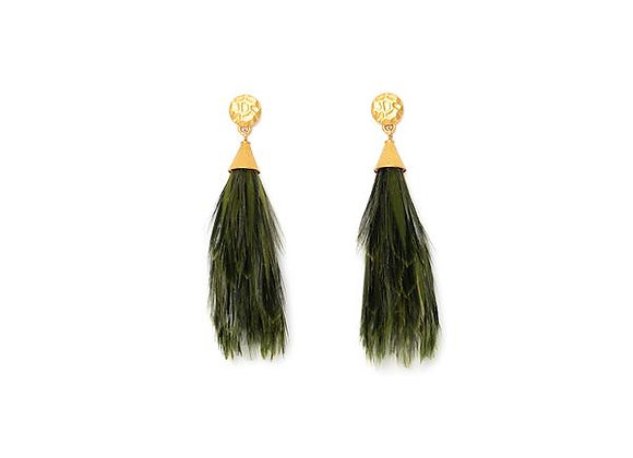 Invincibelle Feather Statement Earrings