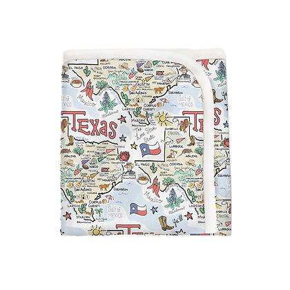 Texas Map Baby Blanket