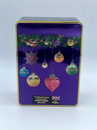 Spiced Ginger Biscuit Royal Bauble Tin