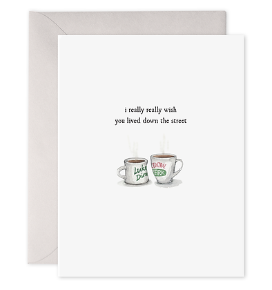 Coffee Cups Greeting Card