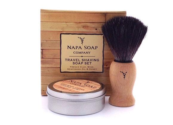 Travel Shaving Soap Gift Set