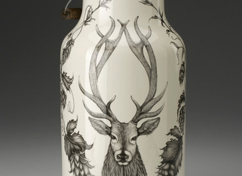 Red Stag Jug with Handle