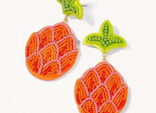 Pineapple Beaded Earrings