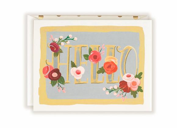 Hello Floral Card