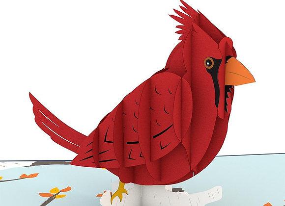 Cardinal Pop Up Card