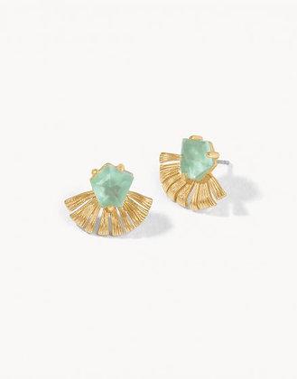 Fan Palm Stud Earrings