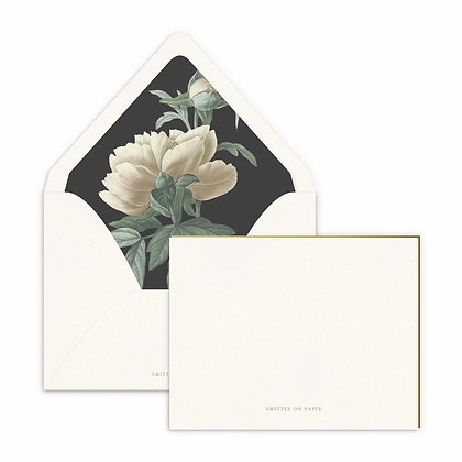 Classic Peony Luxe Lined Note Set