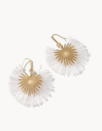 Palmetto Frond Fan Earrings