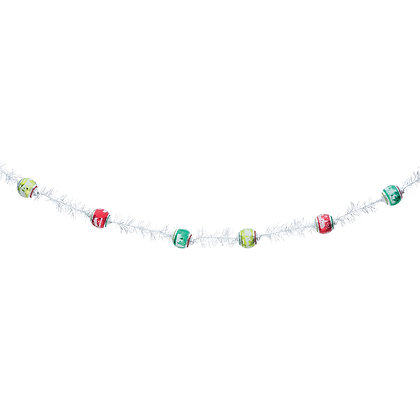 Holiday Splendor Tinsel 7' Garland- by Shiny Brite