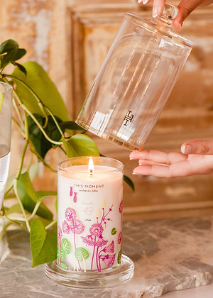 This Moment Glass Cloche Candle