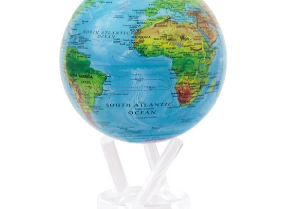 6in Relief Map Blue Mova Globe with Acrylic Base