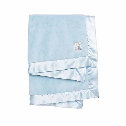 Blue Posh Mink Boxed Receiving Blanket