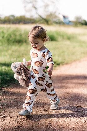 Bunnies Organic Cotton Zipper Pajama