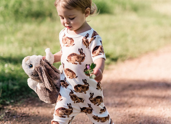 Bunnies Organic Cotton Zipper Pajama