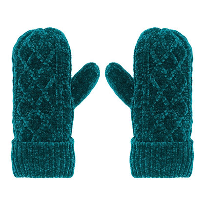 Harbour- Chenille Cable Knit Mittens