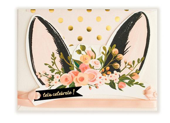 Bunny Ear Wearable Paper Crown Card
