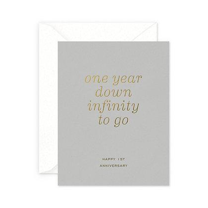 Infinity 1st Anniversary Card