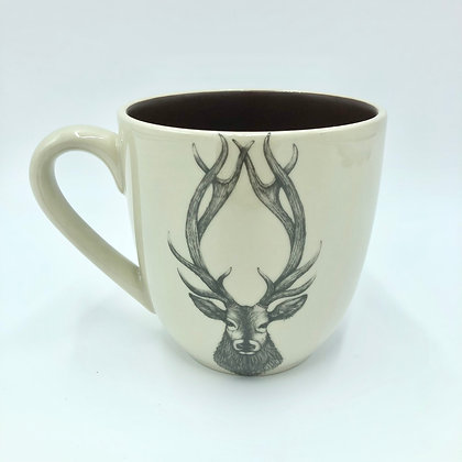 Red Stag Mug by Laura Zindel