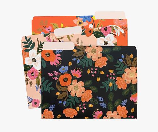 Lively Floral Assorted File Folders