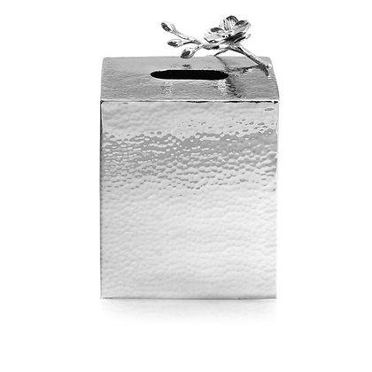 White Orchid Tissue Box Holder