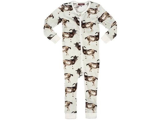 Goats Organic Cotton Zipper Pajama