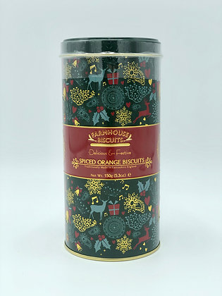 Spiced Orange Biscuits Holiday Tin Tube