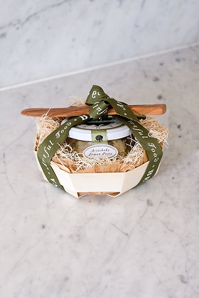 Artichoke Pesto Balsa Wood Basket