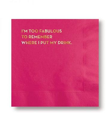 Too Fabulous Napkins