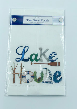 Lake House Guest Towels Set of Two