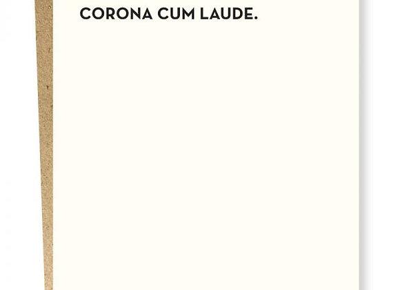 Corona Cum Laude Grad Card