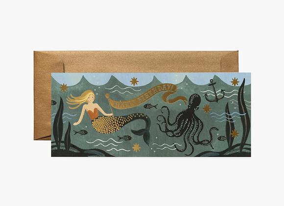 Under the Sea Mermaid No. 10 Birthday Card