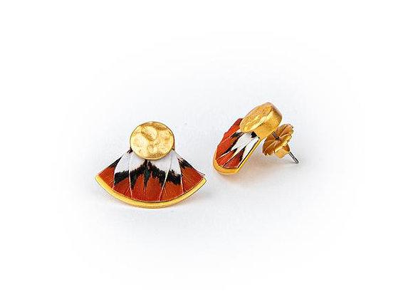Lindsay Feather Stud Earrings