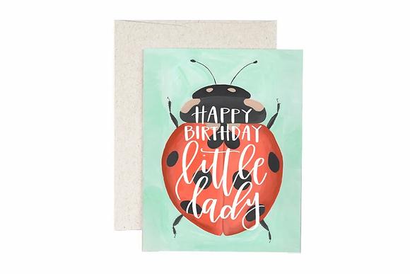 Ladybug Birthday Card