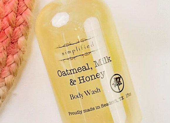 Oatmeal Milk & Honey Body Wash 17oz