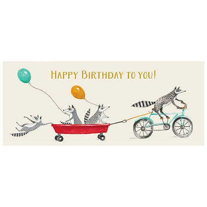 Happy Birthday Raccoons No. 10 Card