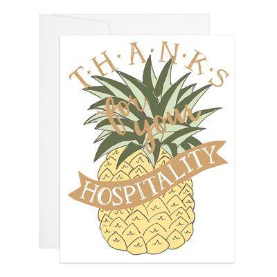 Hospitality Thanks Card