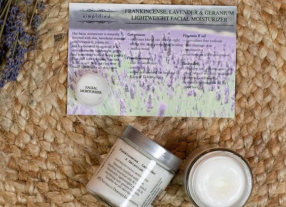 Frankincense, Lavender & Geranium Facial Moisturizer