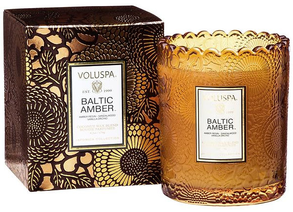 Baltic Amber Scalloped Edge Candle