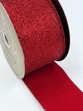 Red Glitter Ribbon Roll