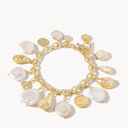 Pearl Charm Toggle Bracelet