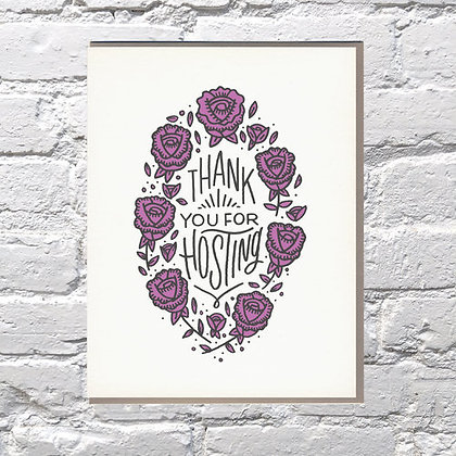 Thank You For Hosting Card