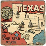Single Marble Coaster- Lone Star State