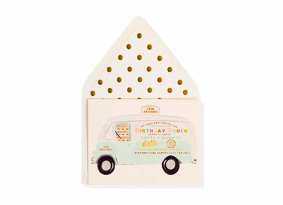 Happy Birthday Taco Truck Card