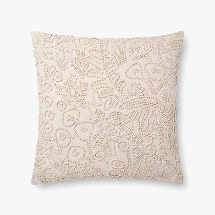 Ivory Textured Pillow