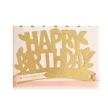 Blush and Gold Wearable Paper Birthday Crown Card