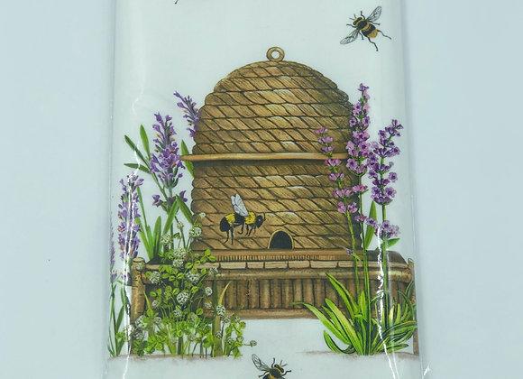 Botanical Lavender & Bee Skep Single Flour Sack Towel