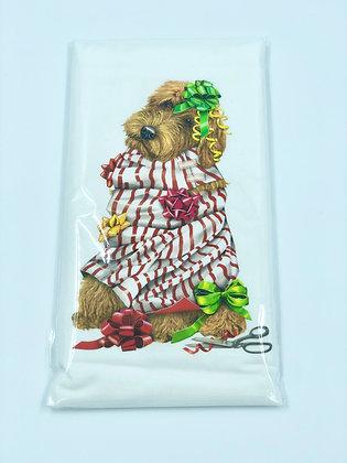 Wrapped Doodle Single Flour Sack Towel
